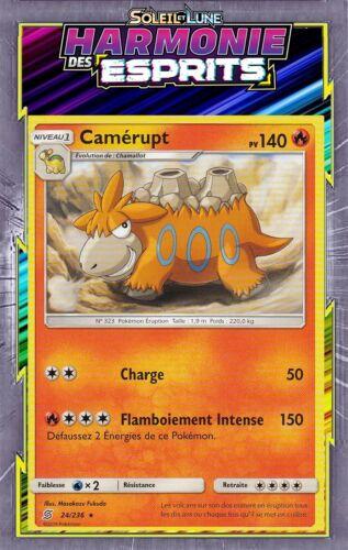 SL11:Harmonie Des Esprits Camérupt Carte Pokemon Neuve Française 24//236