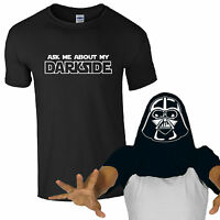Ask Me About My Darkside T-Shirt - Funny Darth Vader Inspired Star Wars Flip Top