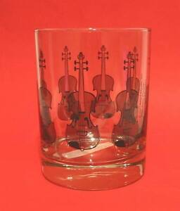 Violin Design Glass Tumbler Group Musician Orchestra Music Teacher Student Gift
