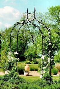 Metal Garden Arch Gothic Arbor Climbing Rose Plants Outdoor Archway