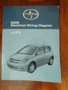 scion xa 2006 electrical wiring diagram manual | ebay  ebay