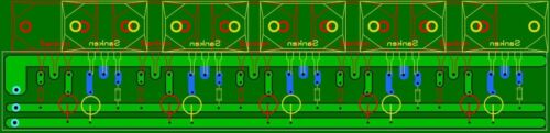 Mosfet output stage PCB fot Kit Amplifiers