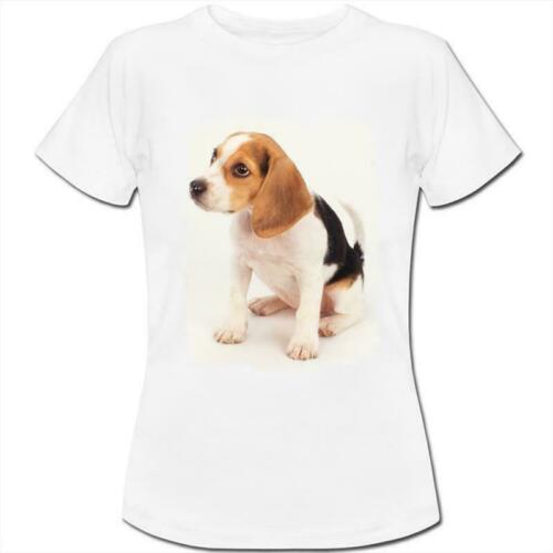Beagle Puppy Dog Womens Boyfriend Fit T-Shirt