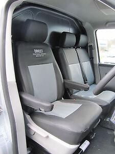 Doble VW Transporter T5-Heavy Duty de cuero Van Fundas De Asiento-Single