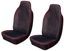 FIAT DOBLO CARGO Heavy Duty Waterproof Van Seat Covers in BLACK & RED