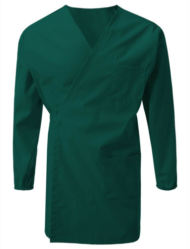 7 Encounter Unisex Multifunctional Wrap Smock Uniform with Chest and Side Pocket