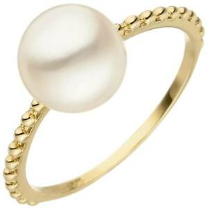 Cooperative Jobo Damen Ring 56mm 585 Gold Gelbgold 1 Süßwasser Perle Perlenring Goldring Fashionable And Attractive Packages Jewelry & Watches Pearl