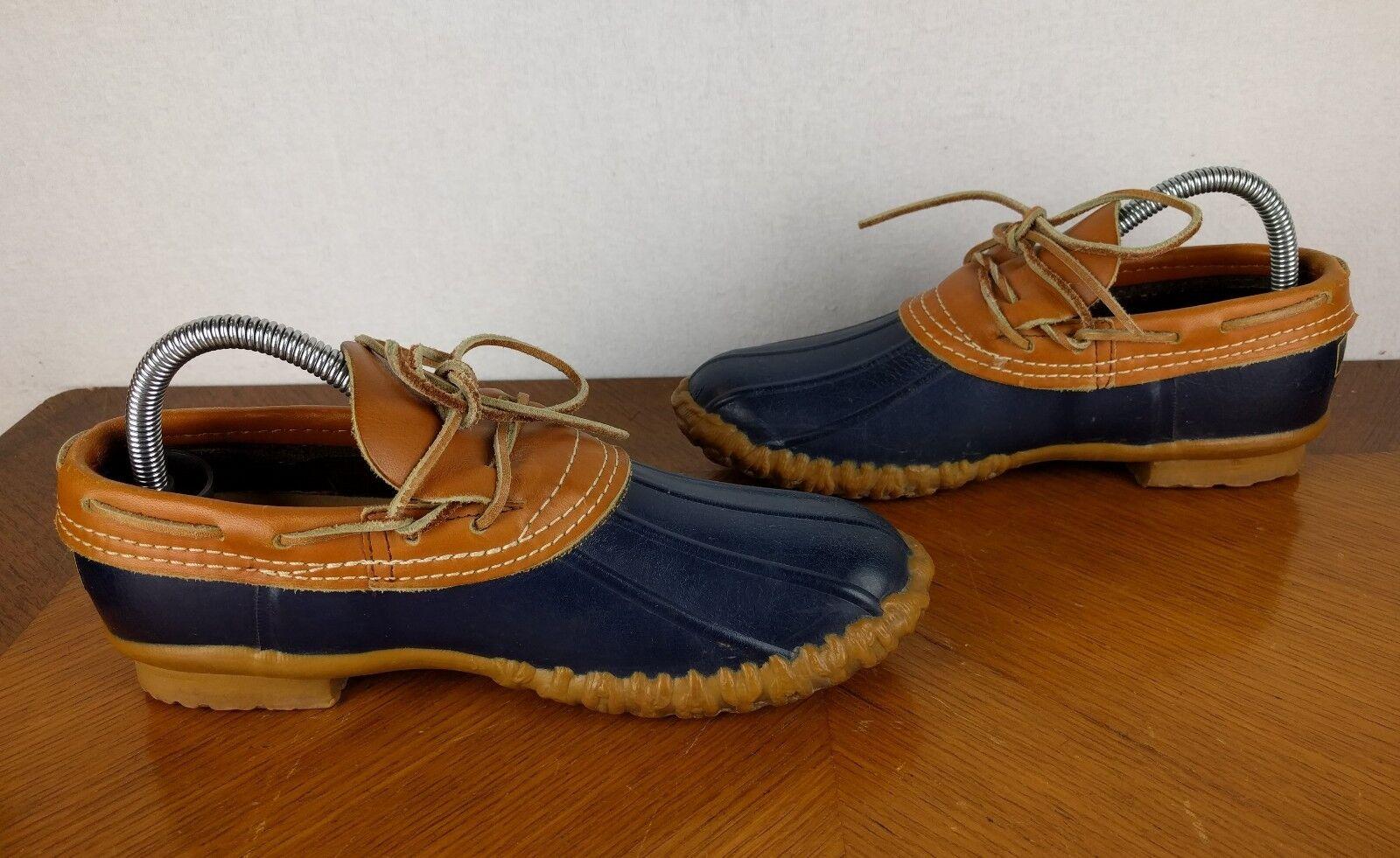 VTG VTG VTG LL Bean Maine Hunting stivali blu Sz 8 USA Duck Rubber Leather Ankle scarpe 8e4f44
