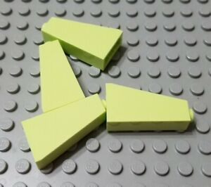LEGO Lot of 4 Yellow 1x1x2//3 Mini Slope Pieces