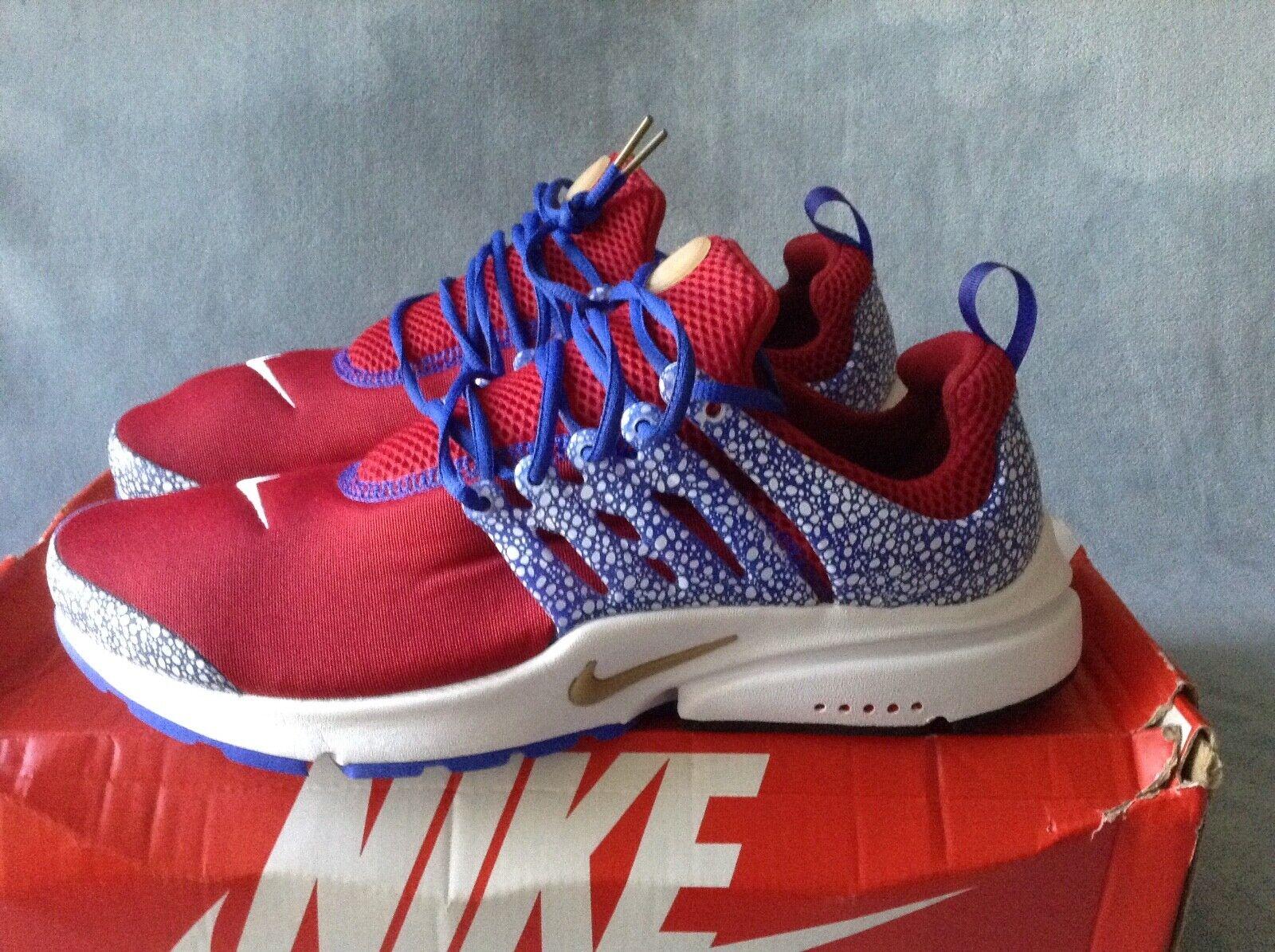 Nike Air Presto QS Safari Pack Gym Red 886043-600 Size 11