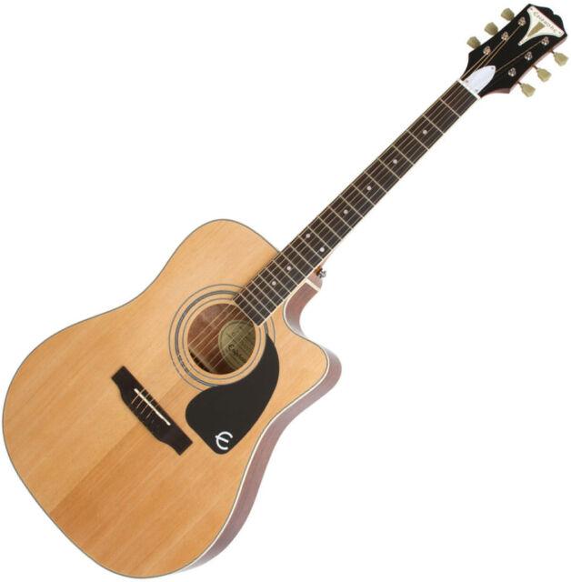 epiphone pro 1 plus ultra acoustic electric guitar natural for sale online ebay. Black Bedroom Furniture Sets. Home Design Ideas