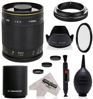 Super 500mm/1000mm F/8 Mirror Telephoto Lens For Canon Digital Cameras