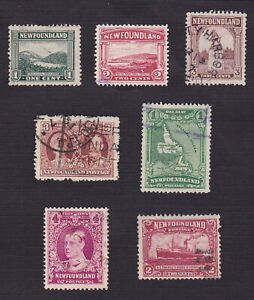 Newfoundland 1923-29 Scott 131-133, 145, 147, 164, 167 - Pictorial Issue - Used