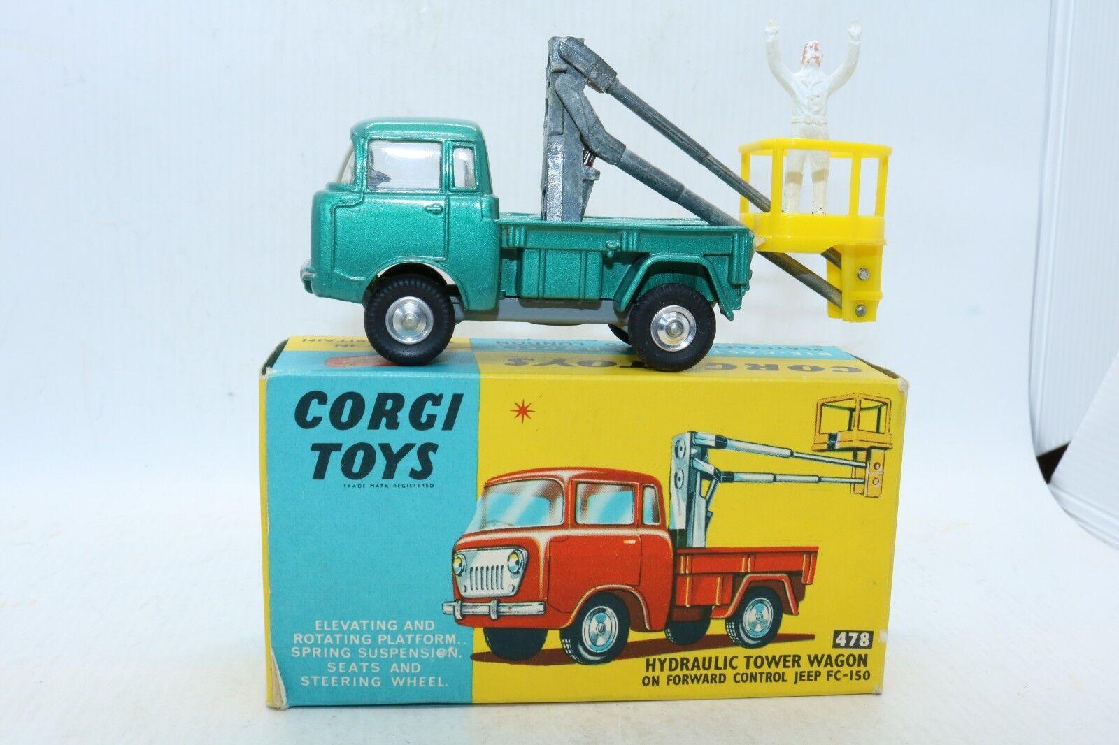 Corgi Toys No 478 Hydraulic Tower Wagon Jeep FC-150 - NM