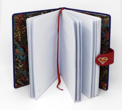 Kunstleder Einband Superman Premium Notizbuch Superman 240 Seiten liniert