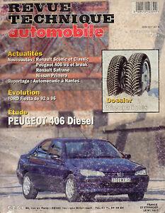 Rta Revue Technique L'expert Automobile N° 589 Peugeot 406 Diesel Xud