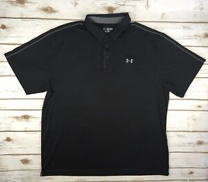 Clothing, Shoes & Accessories Mens Under Armour Black Polo Shirt 3xl Wide Varieties