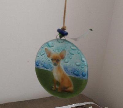 Beagle Dog Fused Art Glass Ornament Ecuador WFTO Fair Trade