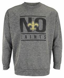 new orleans saints crew neck sweatshirt