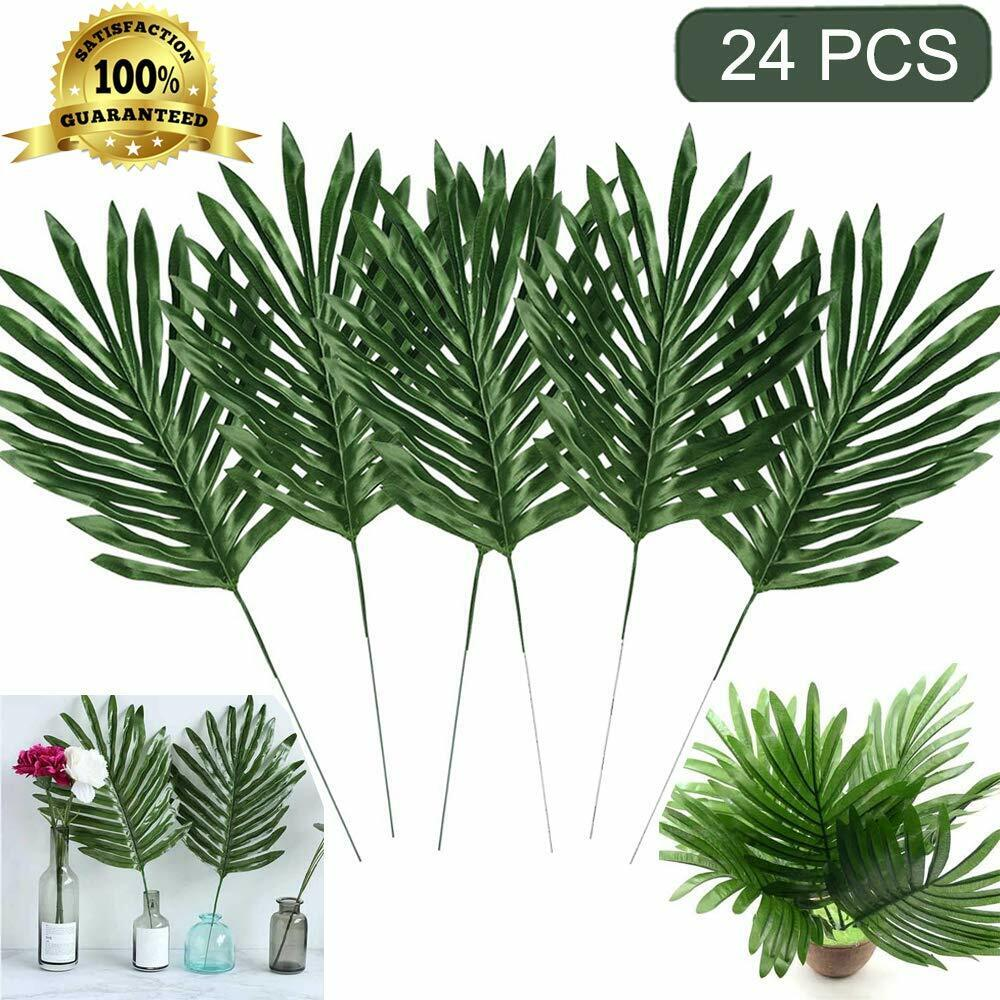 24pcs Artificial Palm Plants Leaves Faux Fake Tropical Large Palm Tree Leaves Us For Sale Online