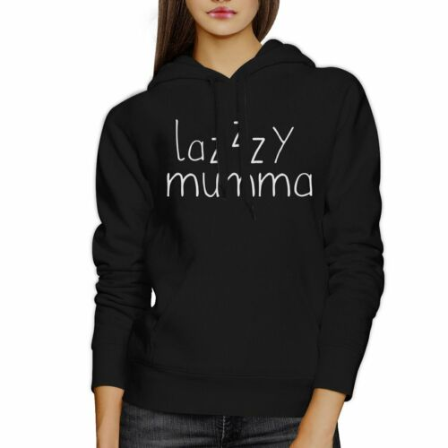 Details about  /Lazzzy Mumma Black Hoodie Humorous Quote Funny Gift Idea For Moms