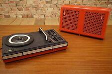 PHILIPS GF 623 PLATTENSPIELER TRAGBARER KOFFER VINTAGE 70s Batterie RECORDPLAYER