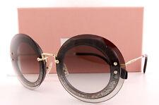 Brand New Miu Miu Sunglasses MU 10R 10RS UES0A7 Tansparent Brown For  Women