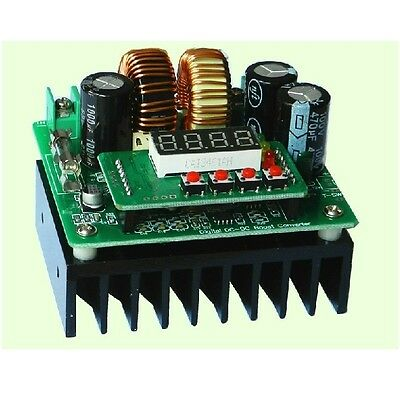 CNC Digital 400W DC-DC Boost Converter Constant Current Battery Charger 12v 24v