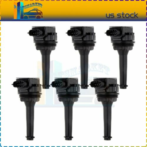 Pack 6 Ignition Coil Fits Volvo S60 S70 S80 V70 XC70 XC90 C70 UF341 5C1320