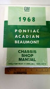 1968-PONTIAC-Models-Chassis-Shop-Manual-Reproduction-New-Sealed-Condition