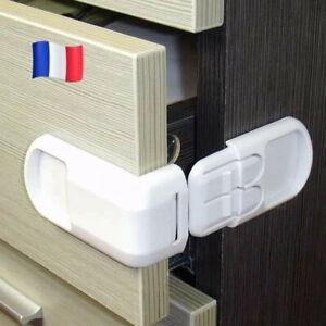 Lot 2 Bloque fermeture armoire tiroir Sécurité Enfant Adhésif envoi rapide