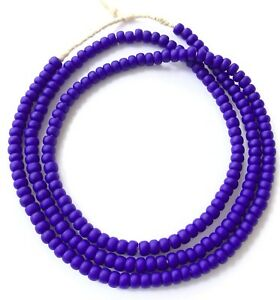 Vintage-Opaque-Royal-Blue-African-glass-beads-Ghana-Trade-Beads