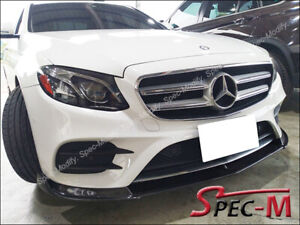 DP-Carbon-Fiber-Front-Bumper-Lip-Fit-W213-E200-E500-E43-AMG-Sports-2017-CF