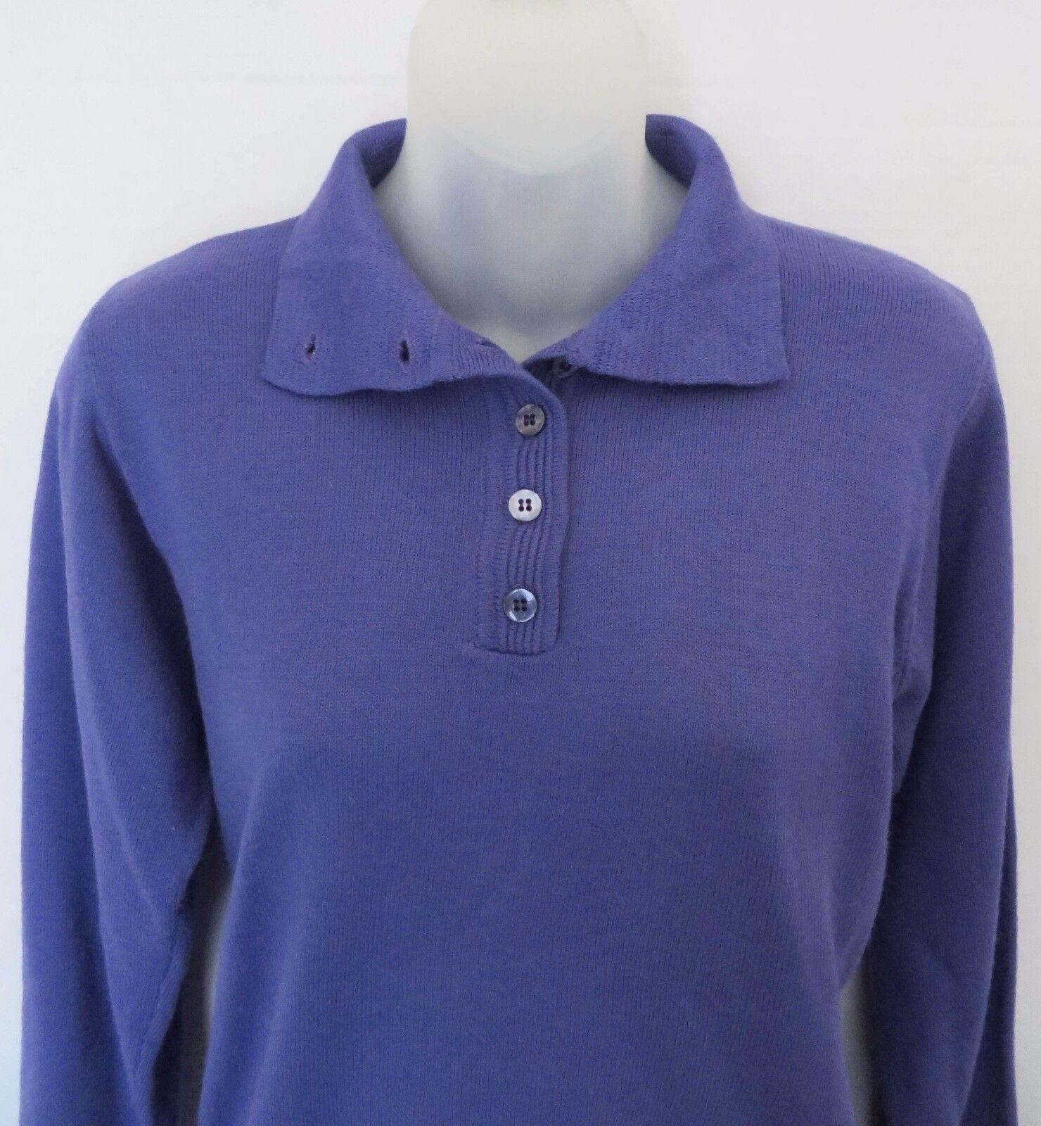 APPLESEED'S Appleseeds Purple Knit Button Sweater Shirt Top Women Size S