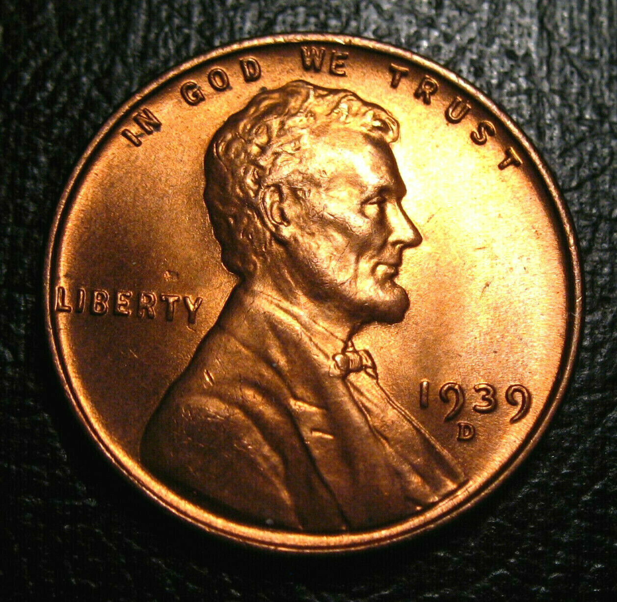 1939 Lincoln Wheat Cent  D Uncirculated BU