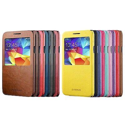 Samsung Galaxy S5 S-View Flip Case [VERUS] Premium Slim Fit Vintage PU Leather