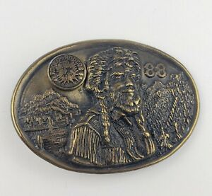 Rodeo-of-Rodeos-1988-Belt-Buckle-Rare-Vintage-Cowboy-Mountain-Man