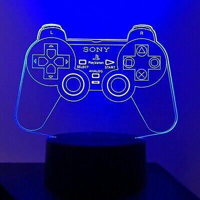 3D Acrylic LED 7Colour Play Station LOGO Gamer PS3 Night Light Lamp Gift X