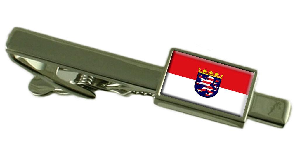 Hesse (Assia) stato Tie Clip Bar con incisa personalizzata personalizzata personalizzata finestra di messaggio 94afb0