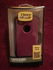 OtterBox Defender Series Pink Deep Plum Case with Holster for iPhone 4 and 4S