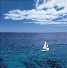 Sailing Boat Under Blue Sky Ocean Yacht Shower Curtain 180cm X 180cm Polyester