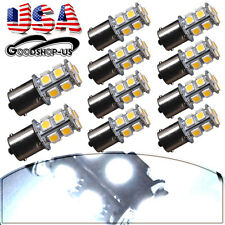 10x White 1156 Ba15s Car Turn Signal Light Super Bright 5050 13-SMD LED Bulb 12V