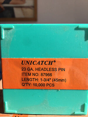 "1/"" 23 Gauge Headless Pins for all 23 Gauge Pinners Cadex,Grex,Senco,Bostitch"