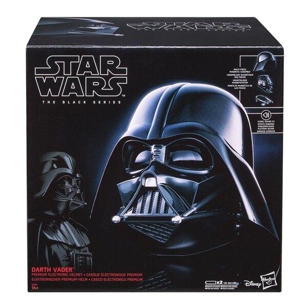 STAR Wars Hasbro NERO SERIE Darth Vader Casco ELETTRONICA PREMIUM 1/1 NUOVO
