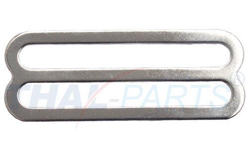 10er Pack Schieber 50mm x 5,8 mm  Stahl vernickelt für Gurtband Stopper