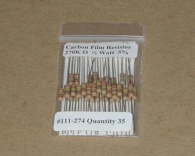 3.9 Ohm 1//2 Watt   5/% Carbon Film Resistors New Stock  USA Seller 35pcs