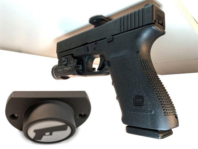 Car Gun Magnet Holster Pistol for Concealed Carry Vehicle Bedside Desk Mount