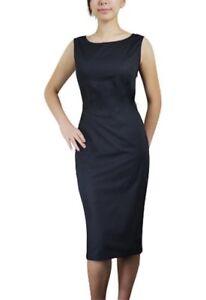 Detalles De Negro Retro Vintage 40s Años 50 Pinup Clásico Hepburn Tipo Lápiz Vestido Estilo