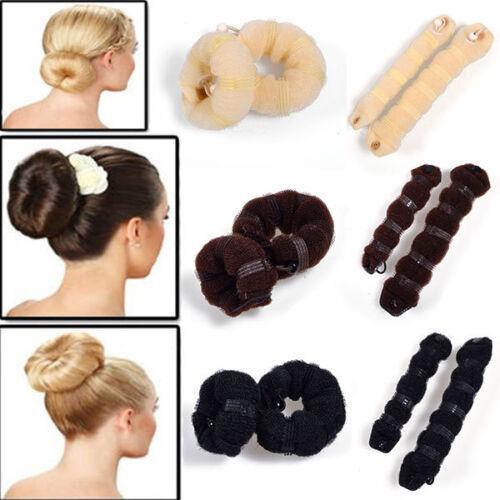 2X Haar Styling Schwamm Magic Donut Bun Maker Ehemaliger Ringformer Styler  CBL