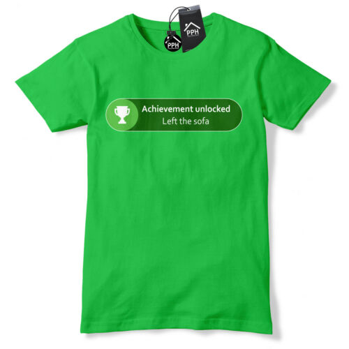 Achievement Unlocked Left the Sofa T Shirt Funny Geek Gamer Xbox Gift gaming 539